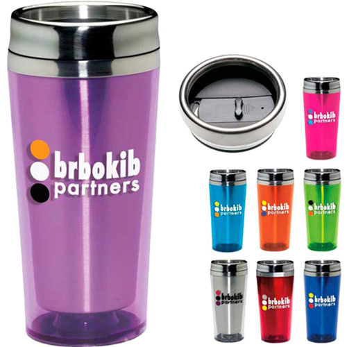 Colored Acrylic Travel Tumbler