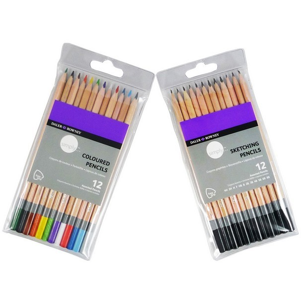Coloured pencil pack set